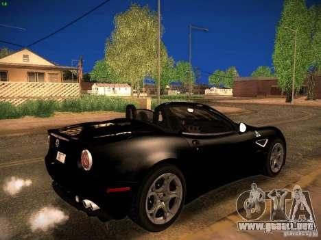 Alfa Romeo 8C Spider 2012 para GTA San Andreas left
