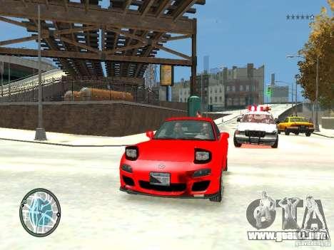 Mazda RX-7 Type RZ para GTA 4 vista superior