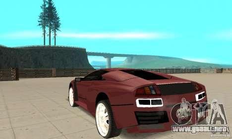 Lamborghini Murcielago Tuned para GTA San Andreas vista posterior izquierda