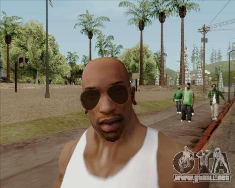 Brown anteojos aviadores para GTA San Andreas quinta pantalla