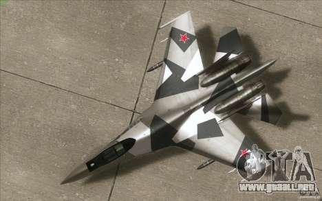 Su-35 BM v2.0 para visión interna GTA San Andreas