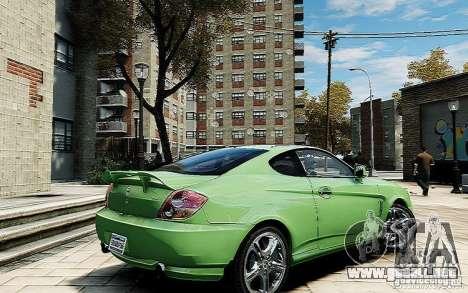 Hyundai Tuscani para GTA 4 Vista posterior izquierda