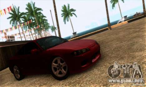 Nissan Silvia S15 Tunable para GTA San Andreas vista posterior izquierda