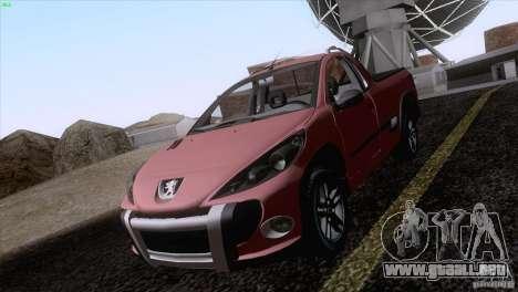 Peugeot Hoggar Escapade 2010 para GTA San Andreas vista hacia atrás