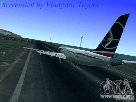 Embraer ERJ 190 LOT Polish Airlines para GTA San Andreas vista posterior izquierda