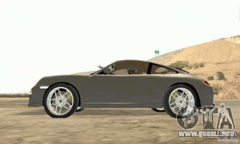 Porsche Carrera S 2009 para la visión correcta GTA San Andreas