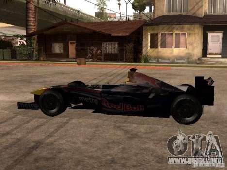 F1 Red Bull Sport para GTA San Andreas left