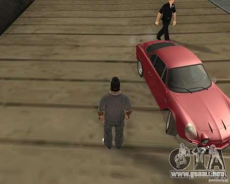 La rueda dio vuelta al salir de un coche para GTA San Andreas segunda pantalla