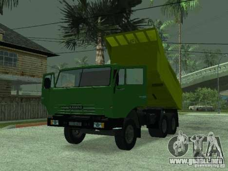 KAMAZ 55112 para la visión correcta GTA San Andreas