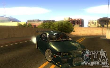 Mitsubishi Eclipse DriftStyle para GTA San Andreas vista hacia atrás