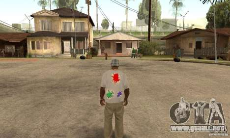Gotcha Shirt para GTA San Andreas segunda pantalla
