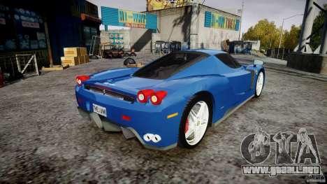 Ferrari Enzo para GTA 4 vista lateral