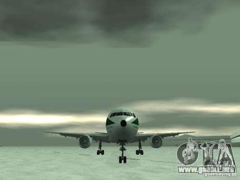 Boeing 767-300 Alitalia para visión interna GTA San Andreas