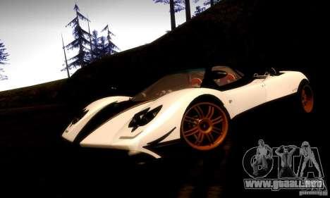 Pagani Zonda Tricolore V2 para GTA San Andreas vista posterior izquierda