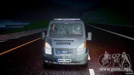 Ford Transit Usluga polski gazu [ELS] para GTA 4 vista lateral