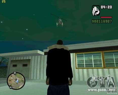 Ayuda de helicóptero para GTA San Andreas segunda pantalla