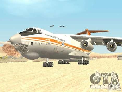 Ilyushin 76 TD (bombero) para GTA San Andreas