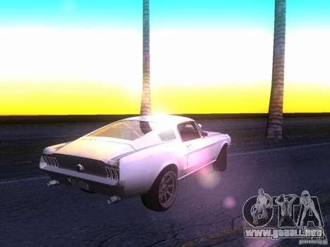 Ford Mustang 1967 GT Tuned para la visión correcta GTA San Andreas