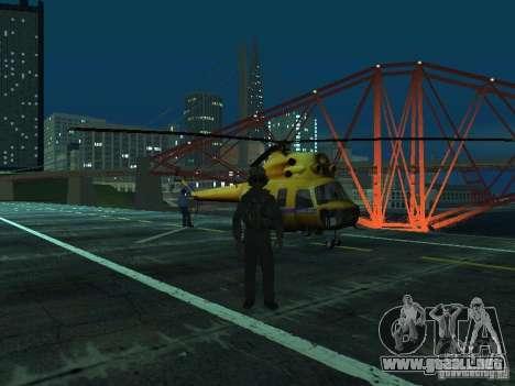 Policía mi-2 para GTA San Andreas vista hacia atrás