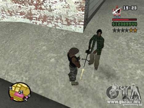 Un guardia de seguridad para el CJ con miniganom para GTA San Andreas segunda pantalla