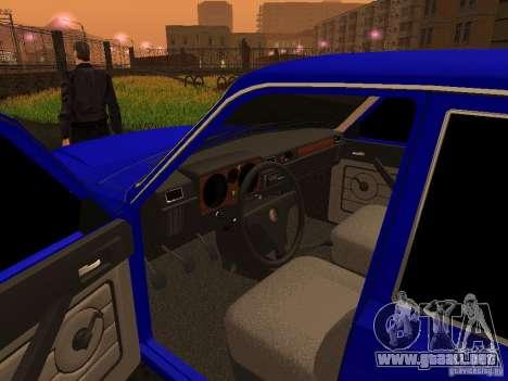 Volga GAZ 31029 para GTA San Andreas vista hacia atrás