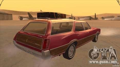 Oldsmobile Vista Cruiser 1972 para la visión correcta GTA San Andreas