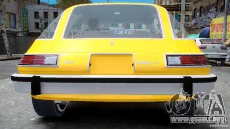 AMC Pacer 1977 v1.0 para GTA 4 vista hacia atrás