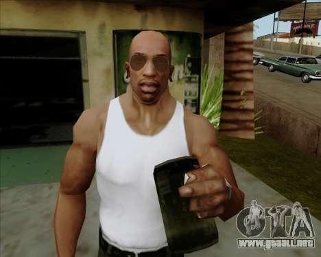Brown anteojos aviadores para GTA San Andreas sexta pantalla