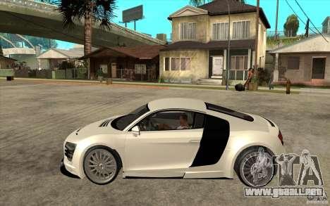 Audi R8 5.2 FSI custom para GTA San Andreas left