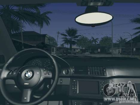 BMW M5 E39 2003 para la vista superior GTA San Andreas