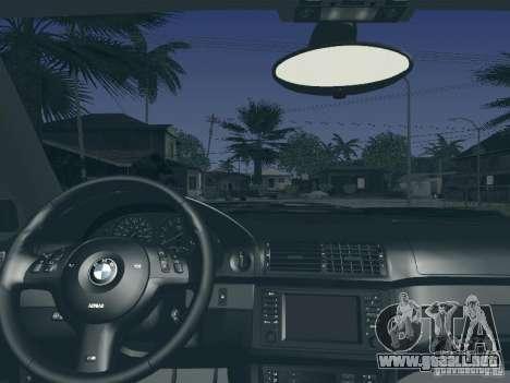 BMW M5 E39 2003 para la vista superior GTA San Andreas