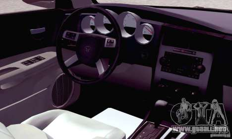 Dodge Charger Fast Five para GTA San Andreas interior