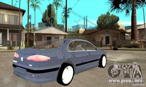 Peugeot 607 para la visión correcta GTA San Andreas