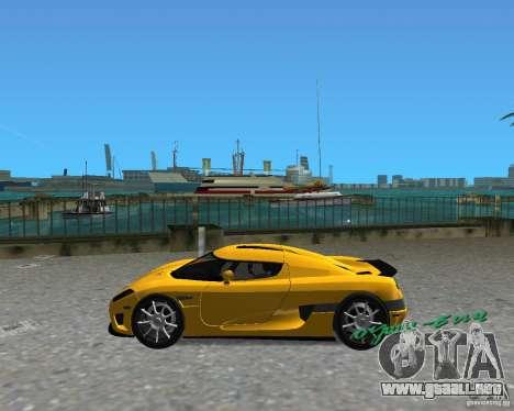 Koenigsegg CCX para GTA Vice City vista lateral izquierdo