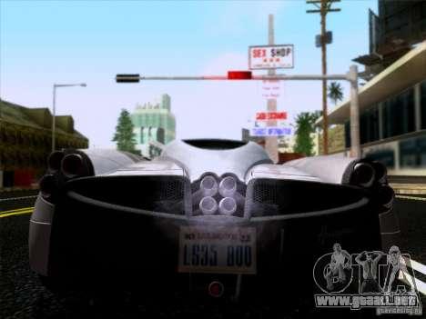 Pagani Huayra 2011 para la visión correcta GTA San Andreas
