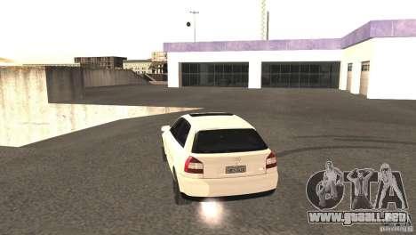 Audi A3 1.8T 180cv para GTA San Andreas vista hacia atrás