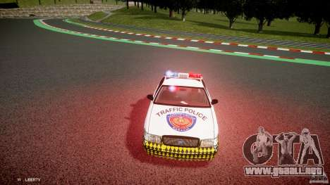 Ford Crown Victoria Karachi Traffic Police para GTA 4 vista interior