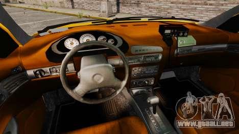 Dodge Intrepid 1993 Taxi para GTA 4 vista hacia atrás