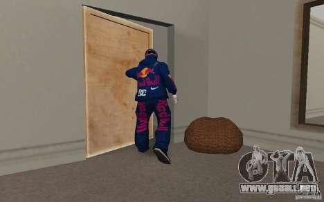 Red Bull Clothes v2.0 para GTA San Andreas sexta pantalla
