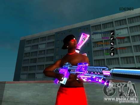 Cromo morado sobre armas para GTA San Andreas