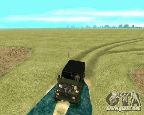 UAZ 31512 para visión interna GTA San Andreas