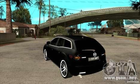 Mazda CX-7 para GTA San Andreas vista posterior izquierda