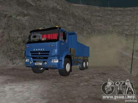 KAMAZ 65222 para GTA San Andreas left