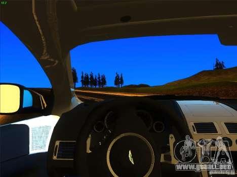 Aston Martin Virage 2011 Final para GTA San Andreas vista posterior izquierda