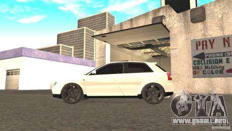Audi A3 1.8T 180cv para la visión correcta GTA San Andreas