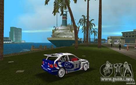 Ford Escort Cosworth RS para GTA Vice City visión correcta