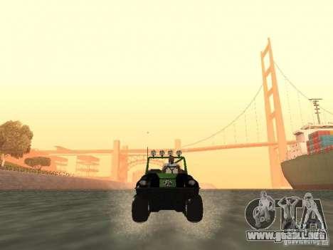 Vehículo todo terreno Argo Avenger para GTA San Andreas vista hacia atrás