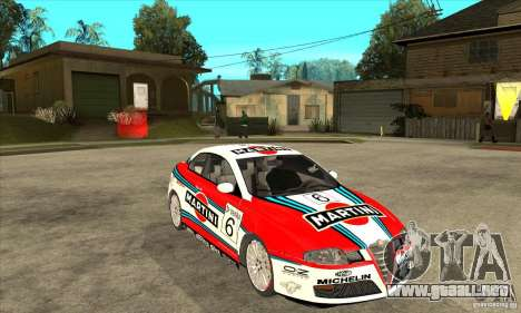 Alfa Romeo GT para GTA San Andreas vista hacia atrás