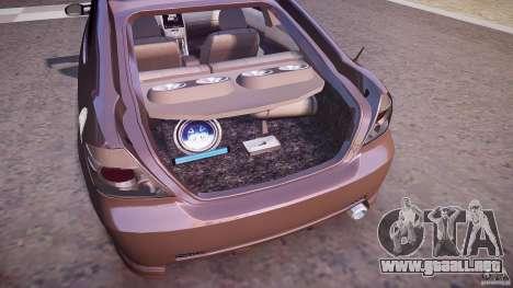 Toyota Scion TC 2.4 Tuning Edition para GTA 4 vista desde abajo