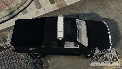 Chevrolet Avalanche 2007 [ELS] para GTA 4 visión correcta